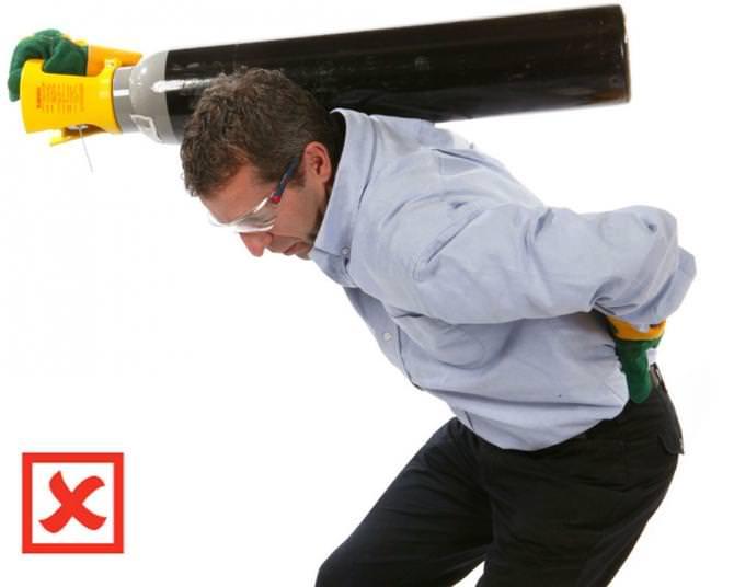 Safe Manual Handling Of Gas Cylinders